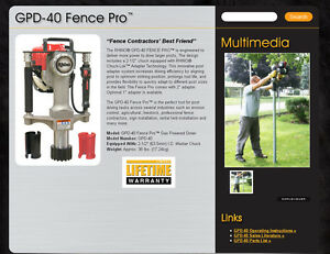 Rhino Gpd 40 Gas Powered Fence Post Driver Free Shipping To Cont Us