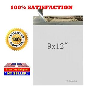 1000 3 9x12 White Poly Mailer Self Sealing Shipping Envelope Bags 2 0mil 9 x12