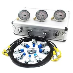 Hydraulic Pressure Test Kit Hydraulic Test Gauge Kit For Excavator Parts