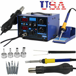 2in1 862d 110v Smd Rework Soldering Station soldering Iron Welder Hot Air Gun