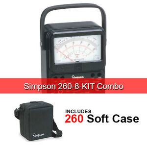 Simpson 260 8 kit Simpson 260 8 kit Analog Vom Meter With Case