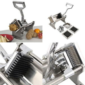 Potato French Fry Fruit Vegetable Cutter Slicer Commercial Quality W 4 Blades Mx