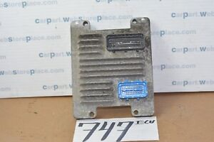 2004 Chevrolet Cavalier 747 Engine Computer Ecm Ecu 12587611