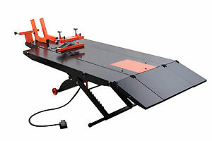 Apluslift Mt1500x Air Op 1 500lb Motorcycle Atv Lift Table 48 With Side Ex