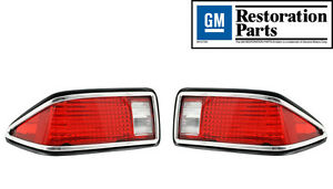 New 1974 1977 Chevrolet Camaro Tail Light Lens Lamp Assembly Pair made In Usa