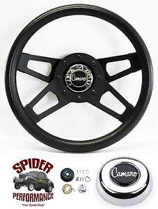 1967 Camaro Steering Wheel 13 1 2 Black 4 Spoke Grant Steering Wheel