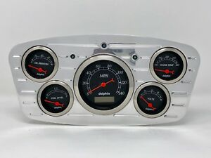 1933 1934 Ford Car 5 Gauge Dash Cluster Black
