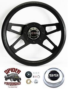 1969 1973 El Camino Chevelle Steering Wheel Ss Black 4 Spoke 13 1 2 Grant
