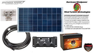 Solar Panel Kit 100 Watt 12v Pv Off Grid Kit Rv Boat Charge Control