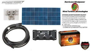 Solar Panel Kit 130 Watt 12v Pv Off Grid For Rv Boat Charge Control