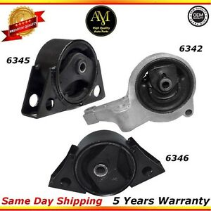 Engine Motor Mounts Set For 93 97 Nissan Altima 2 4l
