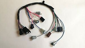 1964 1966 Chevy Pick Up Truck Instrument Cluster Wiring Harness Gauges Overspeed