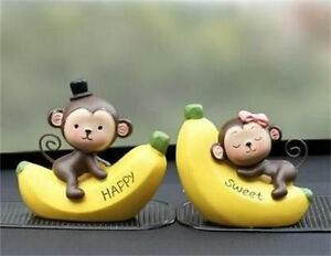 2019 New Fashion Car Decoration Cute Doll Interior Accessories 2 Pieces Monkey