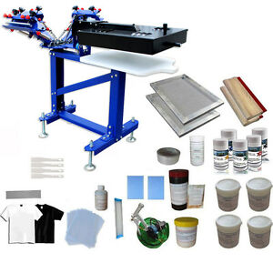 3 Color 1 Station Press Packge Silk Screen Printing Kit Press Printer With Dryer