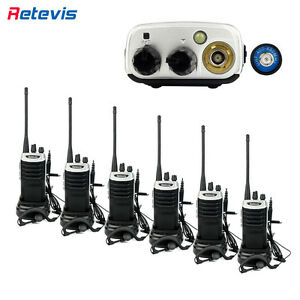 6pcs Retevis Rt7 Walkie Talkie 16ch Uhf400 470mhz 5w 1000mah Fm 2 way Radio Us
