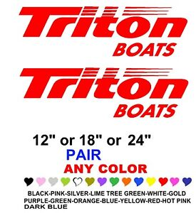 Triton Boats Stickers Decals Any Color Any Size Fishing