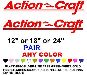 Action Craft Boat Stickers Decals Any Color Any Size Fishing