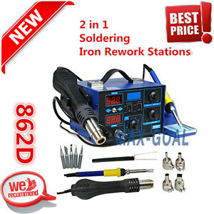 2 In1 862d 110v Smd Rework Soldering Station soldering Iron Welder Hot Air Gun