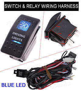 Universal 5pin Car Dual Driving Lights Switch Toggle On off Relay Harness Wiring