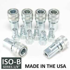 6 Sets 1 8 Iso b Hydraulic Hose Quick Disconnect Couplers Plug iso 7241 1 B