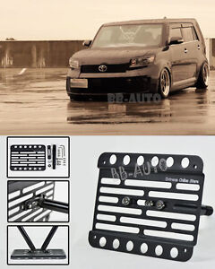 For 08 up Scion Xb Front Bumper Tow Hook License Plate Mount Relocator Bracket