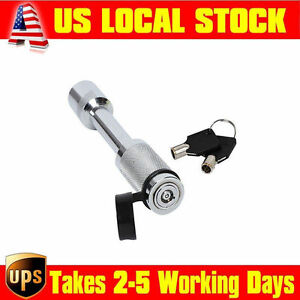 5 8 Hitch Key Lock Pin For Truck Trailer Tow Class Ii Iv V Receiver W Cover Mg