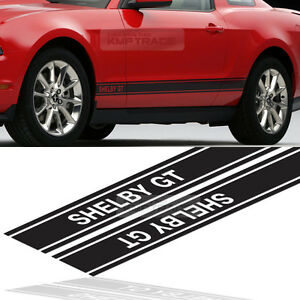 Shelby Gt Logo Door Stripe Graphics Decals Sticker 4pcs For Ford 2005 14 Mustang