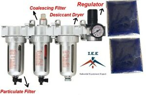 3 8 Compressed Air Filter Desiccant Dryer Good For Plasma Cutter Regulator