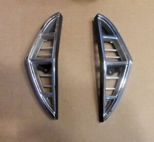 Nos 1968 Ford Thunderbird Grill Extensions Pair