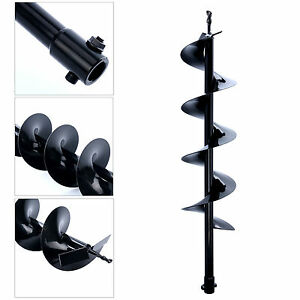 30 inch Auger Post Hole Digger Bit Carbon Steel 6 Inch Wide Skid Steer Drill Us