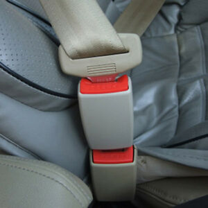 2pcs Auto Car Safety Seat Belt Buckle Clip Adjustable Extender Grey Universal