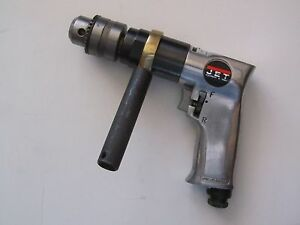 Jet Reversible Air Drill Model Jsm 704 800 Rpm 1 2 Chuck 90 Psi good Condition