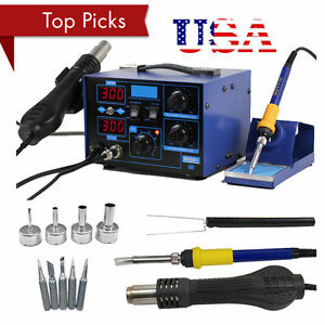 2in1 Soldering Rework Stations Smd Hot Air Iron Desoldering Welder Esd 862d mg