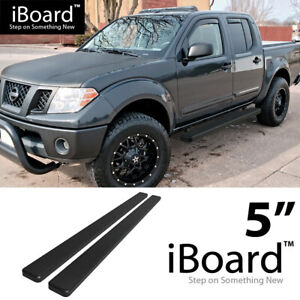 5 Black Eboard Running Boards For 2005 2018 Nissan Frontier Crew Cab Pickup