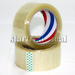 2 inch Clear Packaging Packing Shipping Tapes 110 Yards X 2 Sealing Moving Box