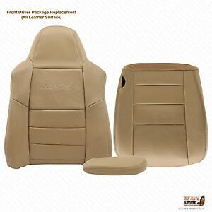 02 03 04 Ford Excursion Limited Lean Back Bottom Armrest Leather Seat Cover Tan