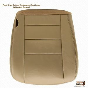 2002 2003 2004 Ford Excursion Limited Driver Side Bottom Leather Seat Cover Tan