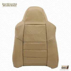 2002 03 04 2005 Ford Excursion Limited Driver Lean Back Leather Seat Cover Tan