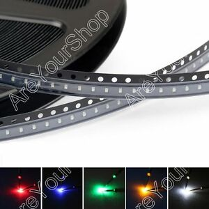 0402 Led Smd Smt Red Green Blue Yellow White 5colours Light Emitting Diodes B1