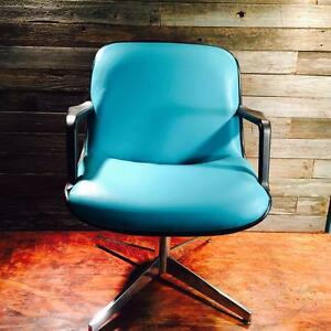 Vintage Steelcase Industrial Tanker Desk Mid Century Retro Chair Unique