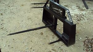 Skid Steer Quick Connect Single Hay Spear
