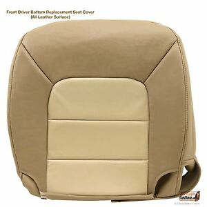 2003 2006 Ford Expedition Eddie Bauer Driver Side Bottom Leather Seat Cover Tan