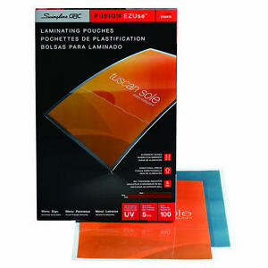 Swingline Gbc Ezuse Thermal Laminating Pouches Menu Size 5 Mil 100 Pack