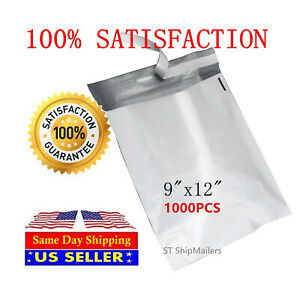 1000 3 9x12 Poly Mailer Self Sealing Shipping Envelopes Waterproof Mail Bags