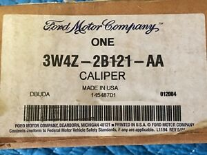 Genuine Oem Ford Lincoln Jaguar Nib Front Left Caliper W Hardware 3w4z 2b121 Aa