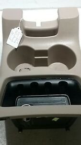 97 99 Ford Expedition Center Console Cup Holder Storage Trim Insert Oem Am1094