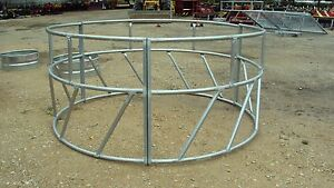 Galvanized Round Bale Hay Ring New