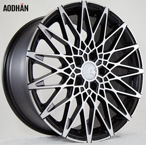 Aodhan Ls001 18x8 35 18x9 30 5x100 Matte Black Machine Face Staggered Set Of 4
