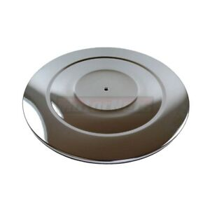 14 Round Chromed Air Cleaner Lid Top Only Chevy Ford Mopar Chevrolet Sbc Bbc