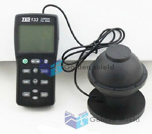 Digital Light Meter Luminous Flux Tester Tes 133 W 7pcs Adapters
